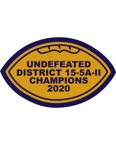 Alamo Heights Football 2020 District Champs Sleeve Patch