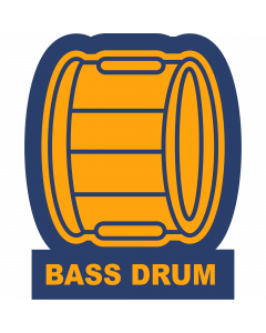 Bass Drum Sleeve Patch