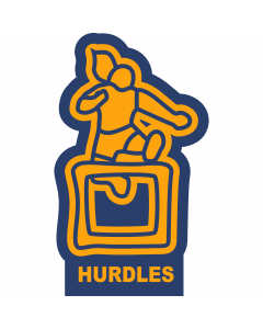 Hurdles-Female Sleeve Patch