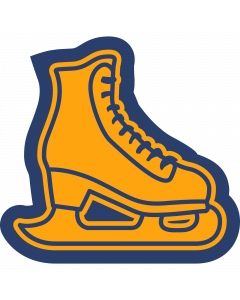 Ice Skating Sleeve Patch