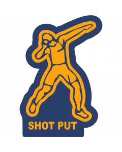 SHPTM - Shot Put-Male Sleeve Patch