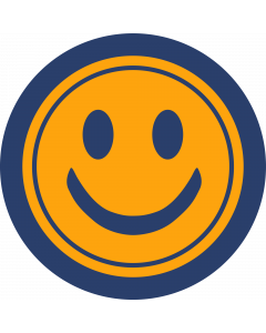 Smiley Face Sleeve Patch