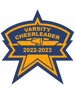 Cheer Star Sleeve Patch