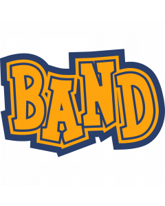 Band Text Sleeve Patch