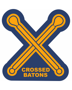 Crossed Batons Sleeve Patch