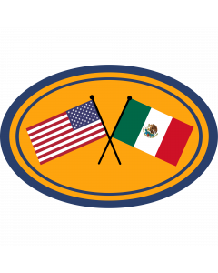 US & Mexico Flags Sleeve Patch