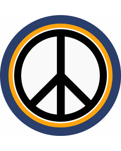 Peace Sign Sleeve Patch