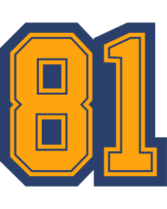 2 Digit Position Patch or Jersey No.